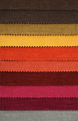 Textile materials variety shades of colors
