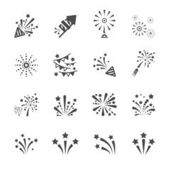 firework icon set 4, vector eps10