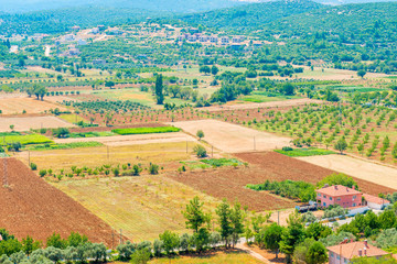smooth plowed land for agriculture