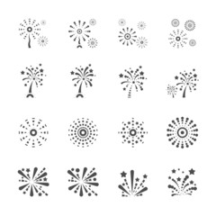 firework icon set 6, vector eps10