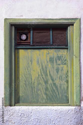 canvas print picture Altes Fenster auf Teneriffa