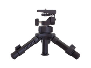 small tripod made of plastic isolated on white background