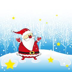 santa clause im schnee