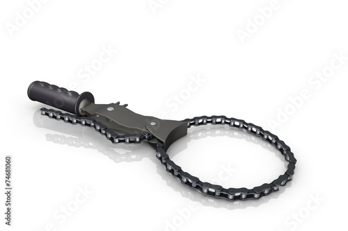 canvas print picture Oil filter wrench