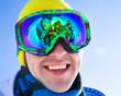 at the ski resort