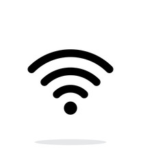 Wireless network icon on white background.