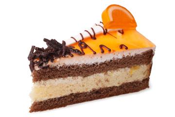 Slice of cream cake
