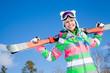 woman with  ski