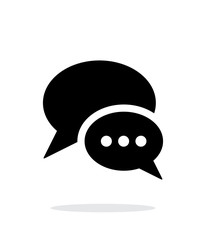 Dialogue bubble icon on white background.