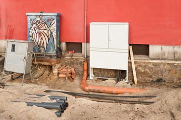 Arbeiten an der Energieversorgung und der Dachentwässerung