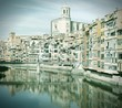 Girona, Spain. Cross processed color tone.