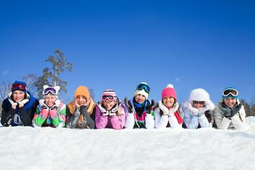 teens on snow