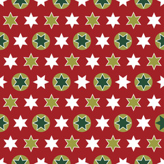 Christmas seamless wrapping paper - repeating