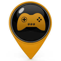game pointer icon on white background