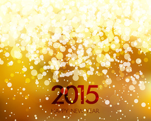 Abstract Gold New Year Background
