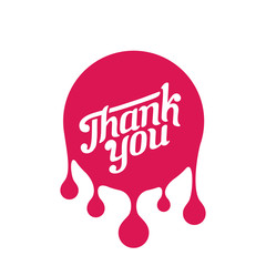 Thank you day Vintage Retro Typography Paint Bulb Sticker