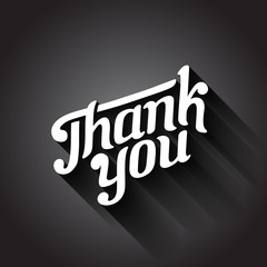 Thank you day Vintage Retro Typography Hand Drawn