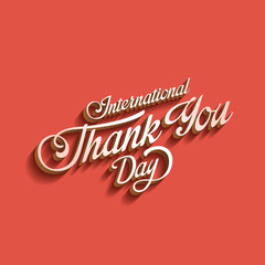 Thank you day Vintage Retro Typography Lettering
