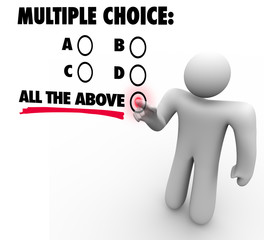 Multiple Choice All the Above Options Test Quiz Uncertainty Gues