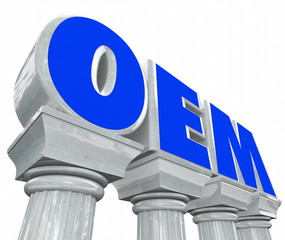 OEM Letters Stone Columns Original Equipment Manufacturer Parts