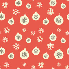 Seamless Retro Christmas Background