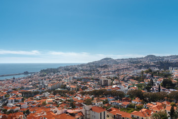 View of the city.  Funchal, Madeira island, Portugal