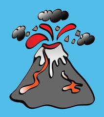cartoon volcano