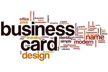 Business card word cloud