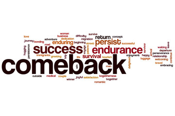 Comeback word cloud