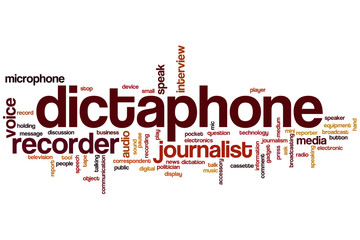 Dictaphone word cloud