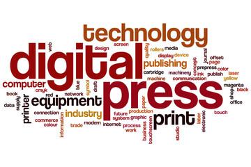 Digital press word cloud