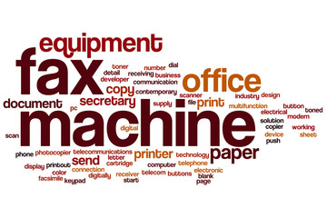 Fax machine word cloud