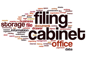 Filing cabinet word cloud