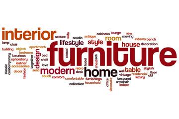 Furniture word cloud