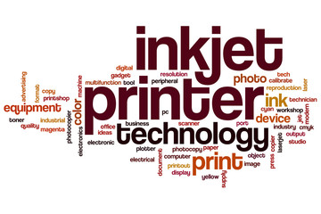 Inkjet printer word cloud
