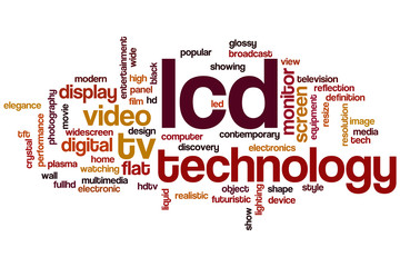LCD word cloud