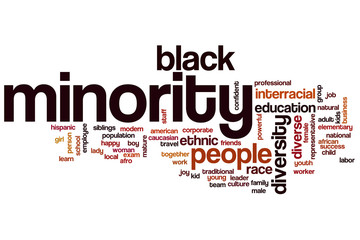 Minority word cloud