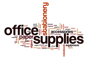 Office supplies word cloud