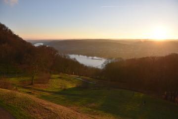 Burg Drachenfels, Abendsonne