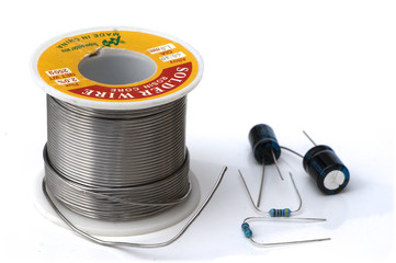 solder wire and components