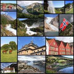 Norway. Travel photo collage.