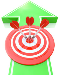 Arrow sign and target - marketing concept