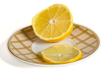 lemon on a tea saucer