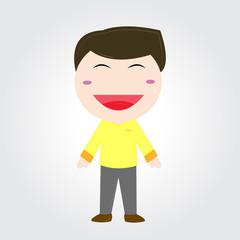 Smiling boy .Vector