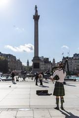 Bagpiper, Trafalgar Square