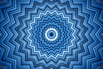 Blue kaleidoscope