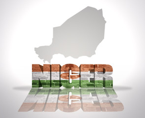 Word Niger on a map background