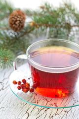 Cup of tea in winter