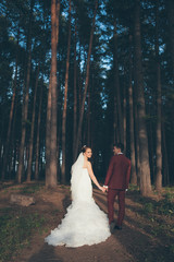 Married Couple in forest