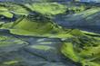 Leinwanddruck Bild - Volcanic landscape in Lakagigar